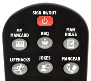 Remote control menu.  Yes, you get to hold it.